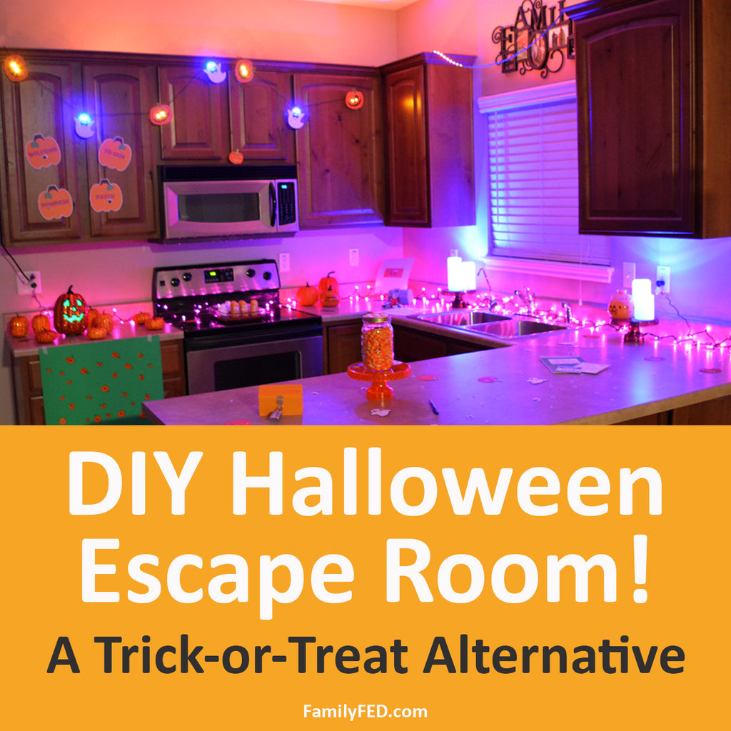 "How to Create a Fun Halloween Party DIY Escape Room: ""Goblin Tricks and Treats"" (A Trick-or-Treat Alternative)"