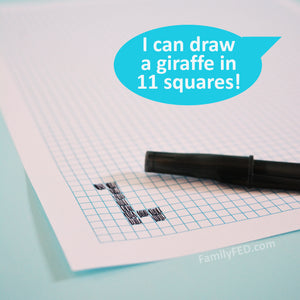 How Many Squares? A Simple Art Game That Helps You Talk with Your Kids about Goals and Growth