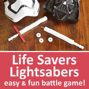 Life Savers Lightsabers Ultimate Star Wars Party Game with DIY Candy Lightsabers Tutorial