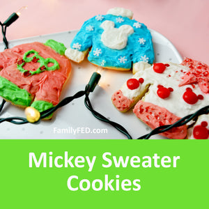 Cute Disney Mickey Christmas Sweater Cookies—Bring the Magic of Disneyland Home!