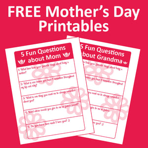5 Fun Questions to Ask Mom or Grandma—Easy Ideas for Family History and Mother's Day!