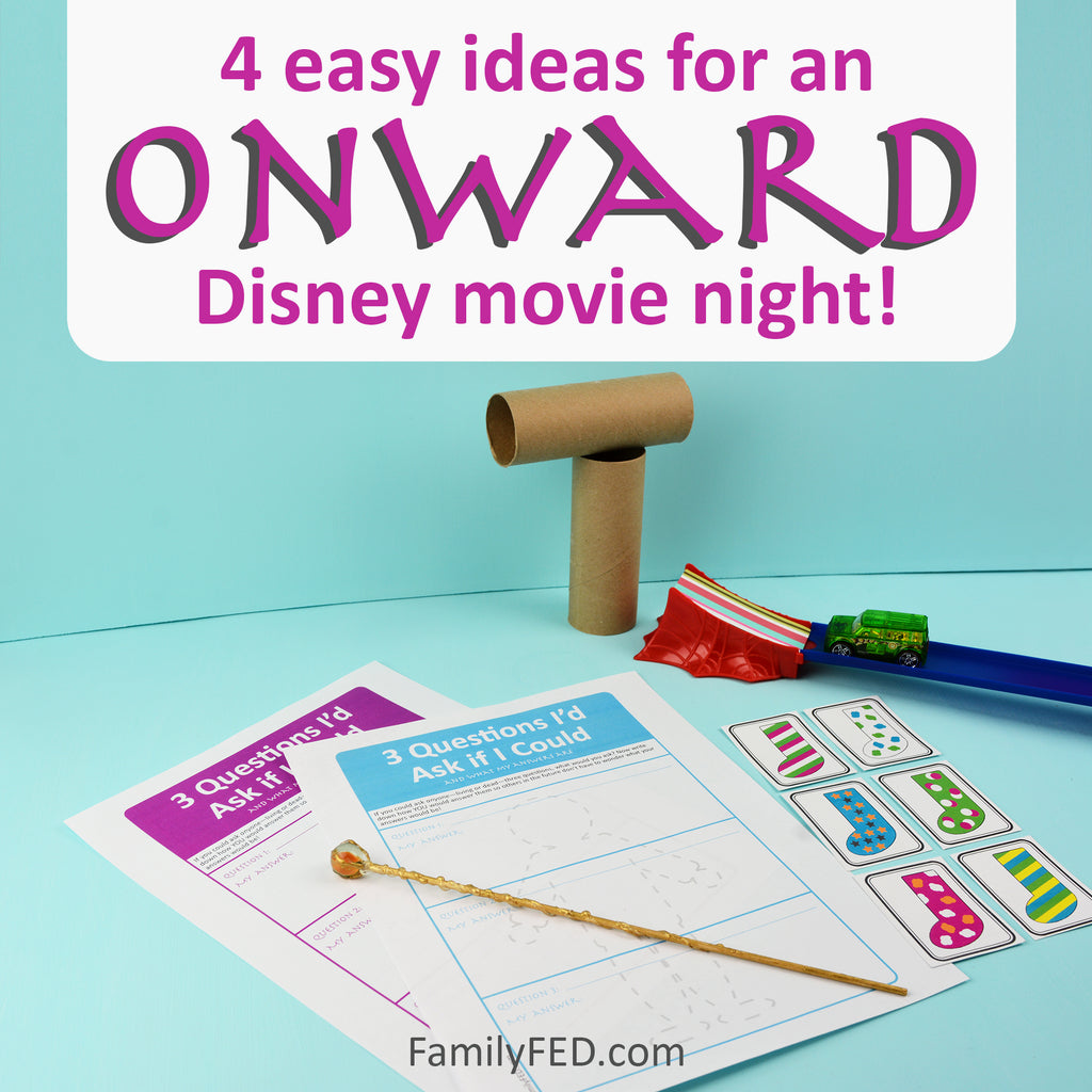 4 Easy Activity Ideas for an Onward Disney Movie Night Party with Disney+