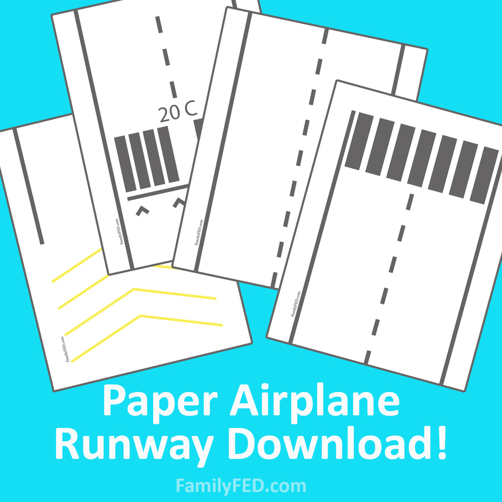 Download a Paper Airplane Runway to Test Your Best Paper Airplane Engineering Skills