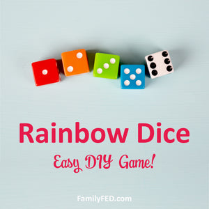 Rainbow Dice Party Game for All Ages (and an Easy, Fun Way to Teach ROYGBIV)