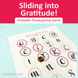 Sliding into Gratitude—an Easy Thanksgiving Party Game Printable