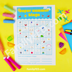 Super Summer Bingo Printable—over 35 Fun Family Activities to Enjoy This Summer + Talking about Goals