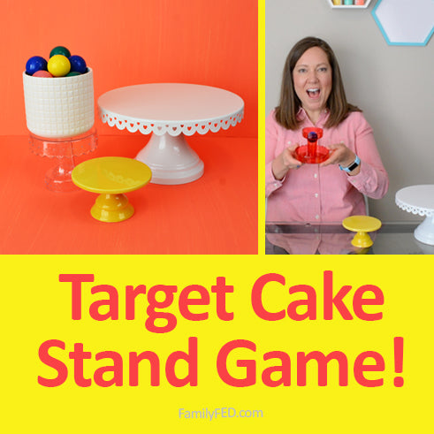 "Target Dollar-Spot Cake Stand DIY Game: ""Upside-down Cake Bounce"""