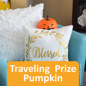Traveling Prize Pumpkin—Easy Halloween Activity and Halloween Tradition