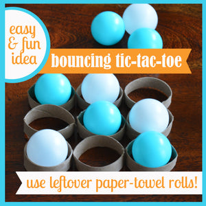 Create a Bouncing Tic-Tac-Toe Game with an Empty Paper-Towel Roll