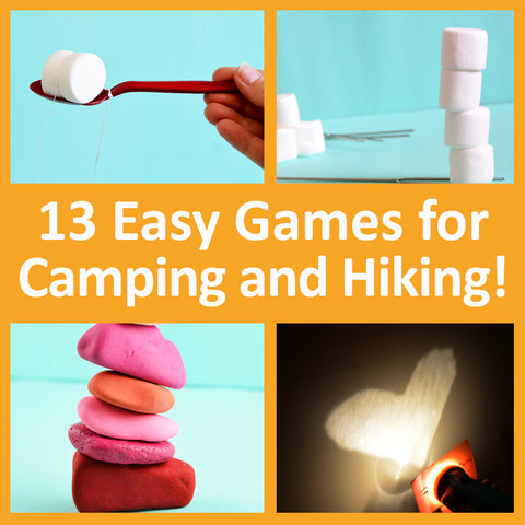 13 easy camp games for camping, hiking, girls camp, family reunions, and backyard campouts