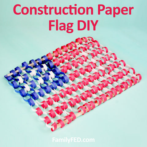 How to create a construction-paper flag craft DIY from the Dollar Tree