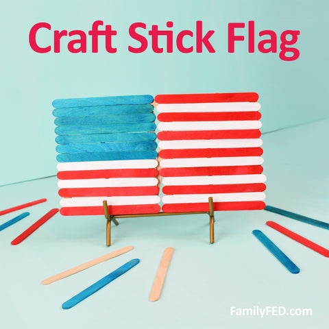 How to create a craft-stick flag craft DIY from the Dollar Tree