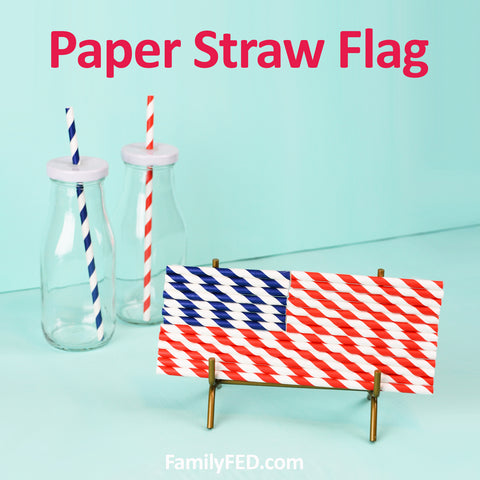 How to create a paper-straw flag craft DIY from the Dollar Tree