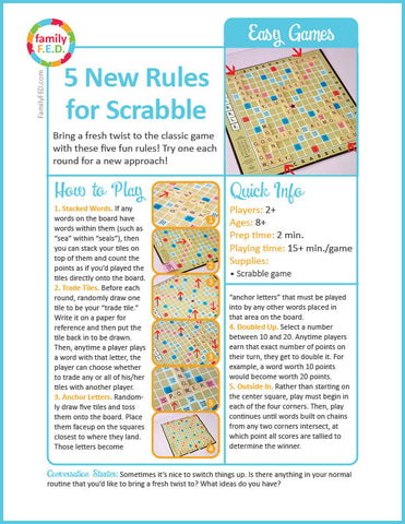 How to play Scrabble with five new rules