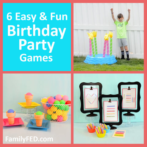 Looking for birthday party ideas that are easy to prep, inexpensive, and fun for all ages? Check out these six ideas!