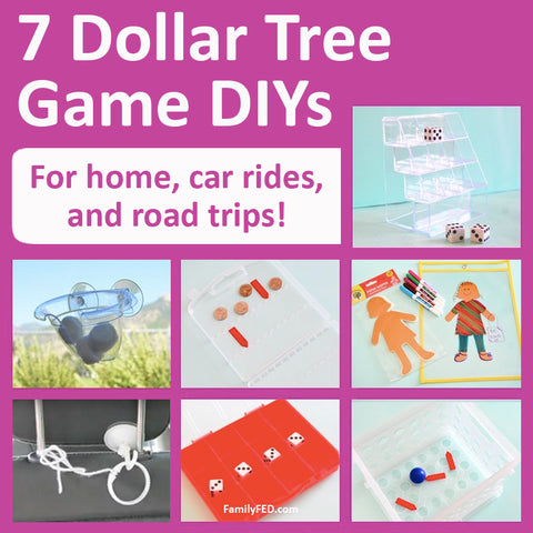 7 Easy Games with Dollar Tree Supplies for Family Game Night, Car Games, and Road Trips
