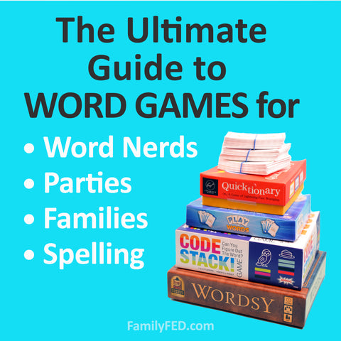 Ultimate guide to the best word games for families, parties, spelling, and word nerds