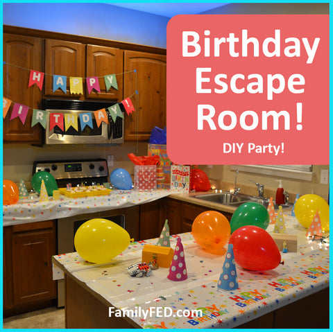 Birthday Party Escape Room DIY for the best birthday party