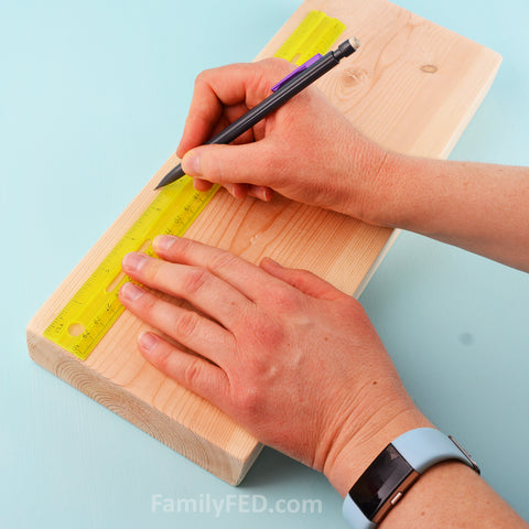 Measure your board for nailing.