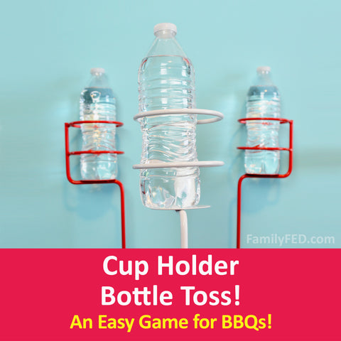 Easy Summer Barbecue Game: Cup Holder Bottle Toss Game