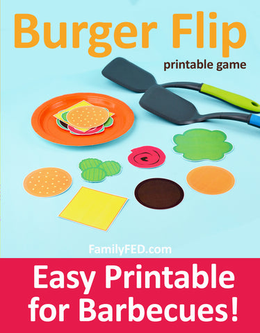 Burger Flip fun family game for barbecues, summer parties, and family reunions