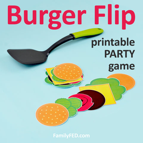 Burger Flip—the Perfect Party Game for Barbecues, Summer Parties, and Family Game Nights