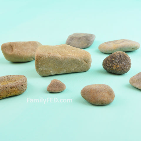 Gather rocks from your yard
