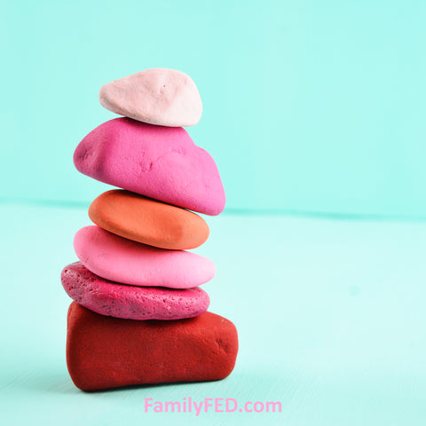 Create painted cairns for a family activity