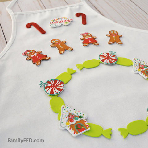 Create an ugly-Christmas apron