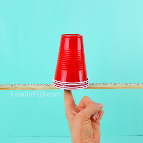 Stack the cups inside each other.