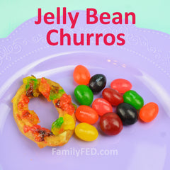 Jelly bean churros by FamilyFED.com