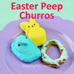 Easter Peep churros by FamilyFED.com