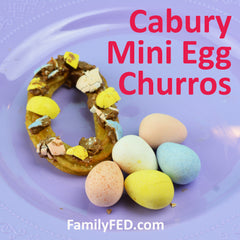 Cadbury Mini Eggs churros by FamilyFED.com