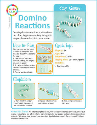 Five fun ideas for creating domino reactions
