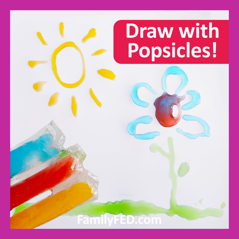 Easy Family Activity Idea: Draw with Popsicles