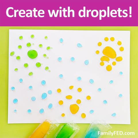 Use freezer pops to paint for a summertime arts and crafts project!