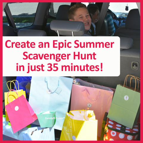 Create an Epic Summer Scavenger Hunt to kick off summer
