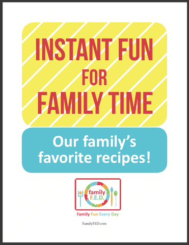 Cover for family activity binder: instant fun for family time