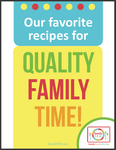 Cover for family activity binder: quality family time.yellow