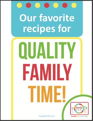 Cover for family activity binder: favorite recipes for quality family time