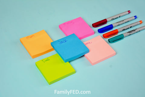 Assign each person a sticky note color and have them write each daily or weekly activity or responsibility by day and time.