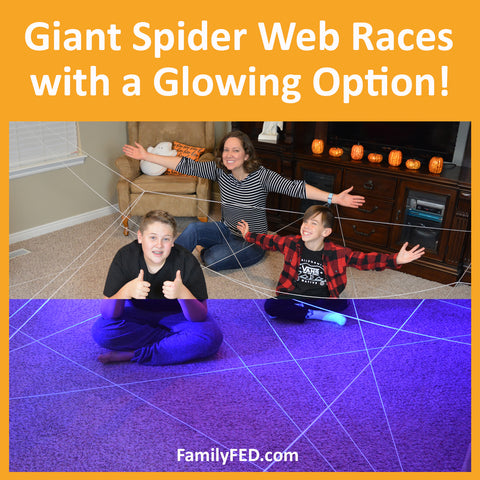 Giant Spider Web Races—Halloween Party Game