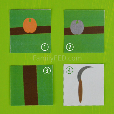 Cards available in Good Fruit, Bad Fruit free downloadable game by Family F.E.D.