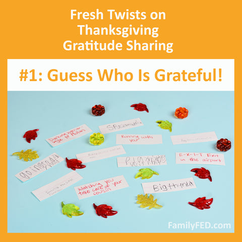 Guess Who Is Grateful Thanksgiving Party Game