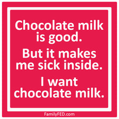 Chocolate milk haiku