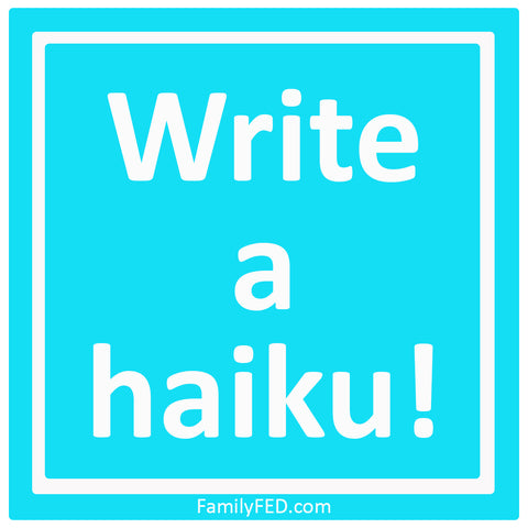 Write a haiku for National Haiku Poetry Day