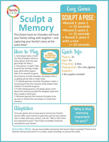 "How to Play ""Sculpt a Memory"" by Family F.E.D."