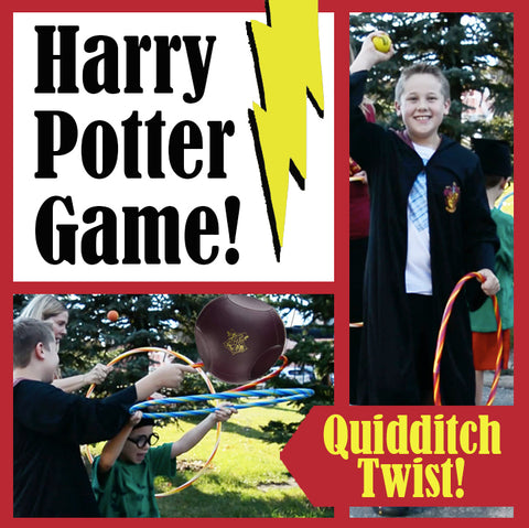 "Quidditch ""Flies Up"": Easy Harry Potter Game with Dollar-Store Hula Hoops"