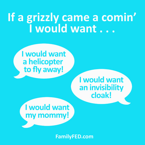 If a Grizzly Came a Comin' Printable Game for to Spark Creativity and Laughter at Camps, Parties, and Family Game Night