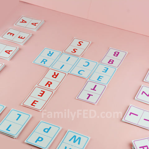 Lightning Letters word game for families, parties, and solo play
